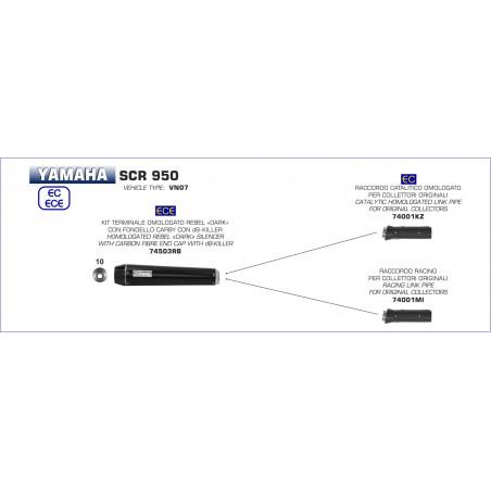 74001KZ-33744 - Catalytic converter homologated for original manifolds Yamaha SCR 950 2017-2018 74001KZ -