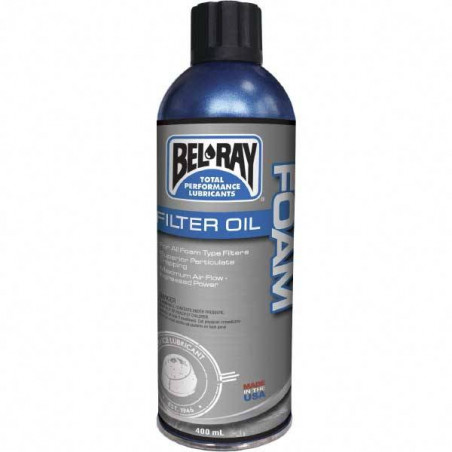 05992006 - BEL-RAY FOAM FILTER OIL - OLIO PER FILTRI ARIA IN SCHIUMA 400ml -