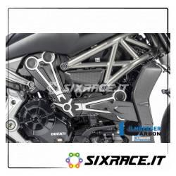 ZAO.199.XD16M.K cover cinghia con decalcomania cromata Ducati XDiavel (2016) carbonio opaco
