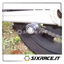 M10 nottolini cavalletto posteriore per ZX6 07 / ZRX1100/1200 / ZZR1400 bianco
