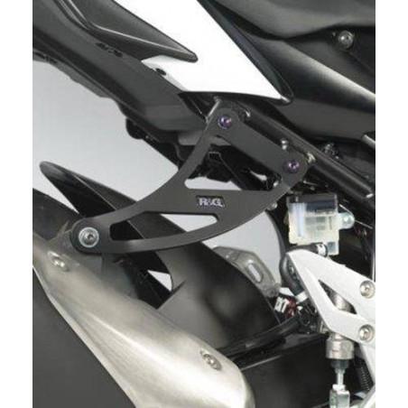 Staffa Supporto Scarico + Piastra Fori Pedane Posteriori Suzuki Gsr750 11