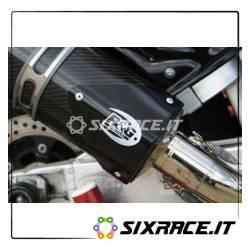 Protezione silenziatore tri ovale - colore nero - SX