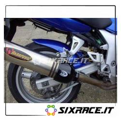 Protezione silenziatore ovale - colore nero - SX