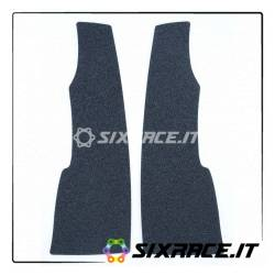 Kit 2pz.adesivi anti-scivolo serbatoio forma allungata 23x8 cm. universale ner