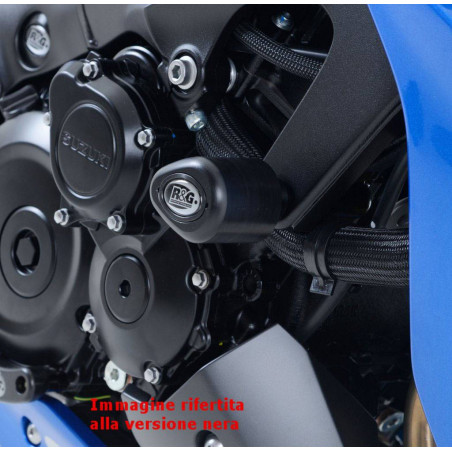Tamponi / protezioni telaio tipo Aero - Suzuki GSX-S 1000 / 1000 ABS - bianco
