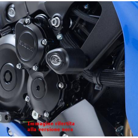 Tampons / protecteurs de cadre de type Aero - Suzuki GSX-S 1000/1000 ABS - blanc