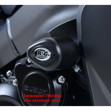 Tampons / protecteurs de cadre de type Aero - Suzuki GSX-S 1000 FA - blanc