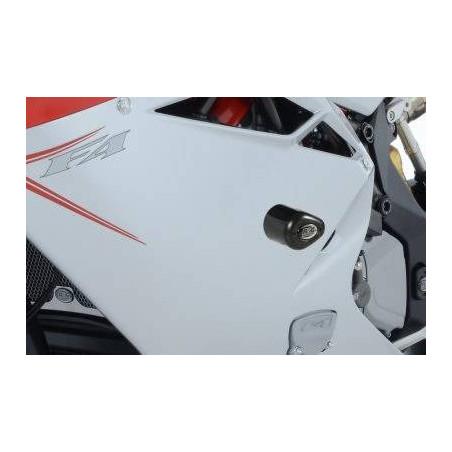Tamponi / protezioni telaio tipo Aero - MV Agusta F4 1000R 10- - bianco