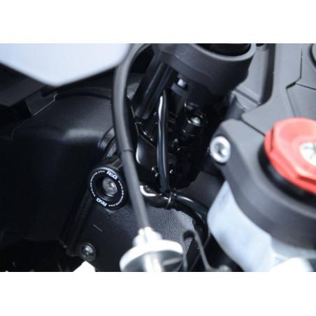 Tamponi fine corsa per sterzo - KW ZX10-R 16- (non c/bloccasterzo orig) - bian