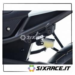 Placchette copri fori poggiapiedi posteriori (lato SX) Honda CBR500R 16- / CB5
