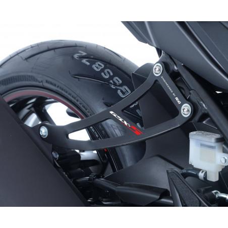 Staffa supporto scarico + piastra fori pedane posteriori Suzuki GSXS 750 17-