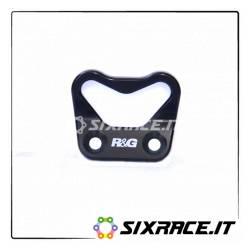 piastra per aggancio cinghie - singola Ducati 899/959/1199/1299 Panigale - nero