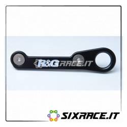 piastra per aggancio cinghie - coppia Honda CBR500R 16- - nero RG