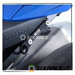 piastra per aggancio cinghie - coppia Suzuki GSX-R1000/R 17- - nero RG