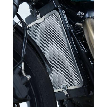 griglia protezione radiatore - Triumph Bonneville Bobber 17- (colore argento) R