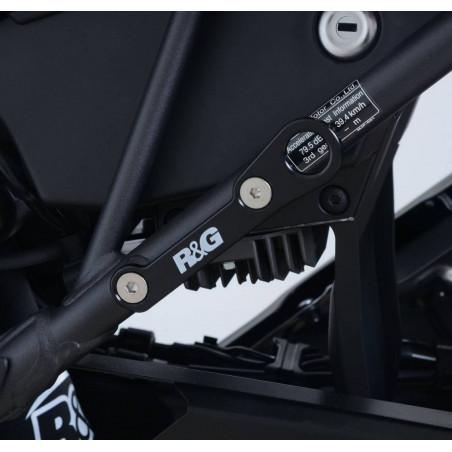 piastra per aggancio cinghie - coppia Honda CRF1000L Africa Twin - nero TH0019B