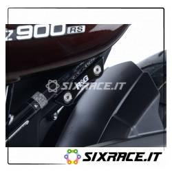Placchette copri fori poggiapiedi posteriori (SX) Kawasaki Z900 / Z900RS - silv