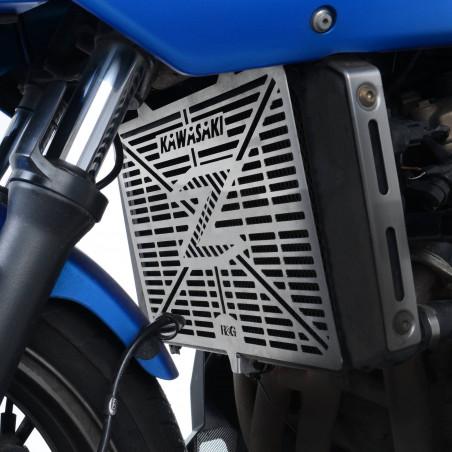 grille de protection de radiateur avec logo en acier inoxydable - KAWASAKI Z750 07- / Z750R /