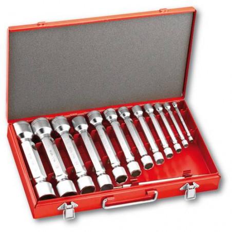 290 E / C12 - Ensemble de 12 clés à douille double lourdes