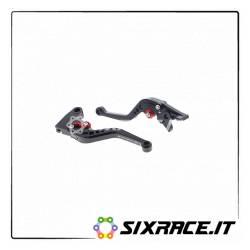 PRN002446-002449-07 - Triumph Street Triple set clutch brake levers court 2008 - 2016 -