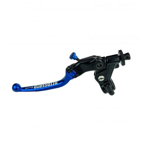Comando Leva Frizione Blu Accossato + Braccialetto Color Titanio 24 mm No RST