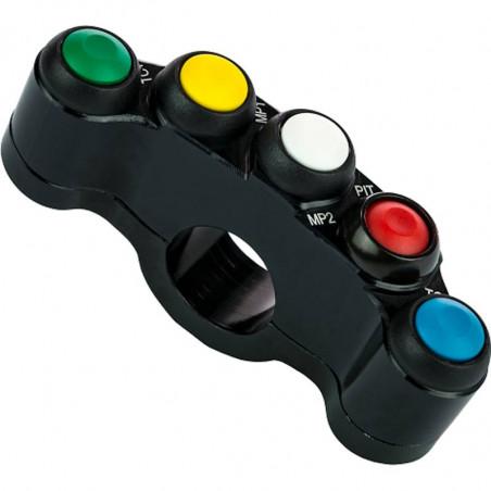 Bouton-poussoir 5 boutons Accossato personnalisable du côté droit / gauche