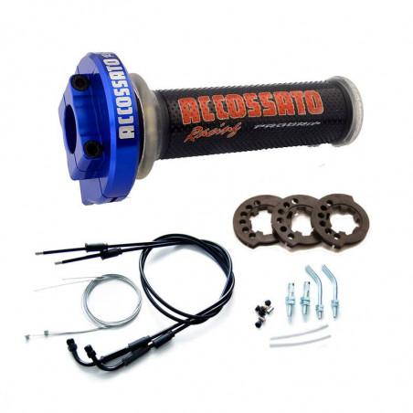 MY004 Contrôle des gaz en bleu ergal avec câbles et poignées, noir GR002 pour YAMAHA R6 2008 - 2015