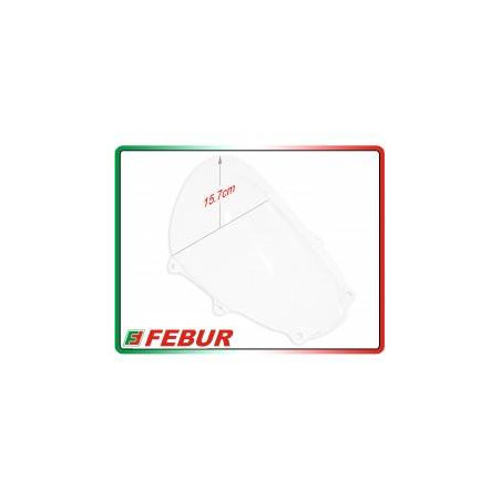Cupolino plexiglass Febur rialzato trasparente Suzuki GSX-R 1000 2017-2019
