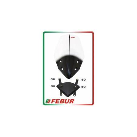 Cupolino plexiglass Febur rialzato trasparente Ducati Hypermotard 821 2013-2015
