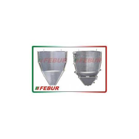Radiatore maggiorato completo acqua + olio racing MV Agusta F4 1000 2004-2009