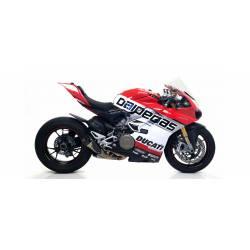 71146PK Terminali Arrow Works titanio (Dx+Sx) con fondello carby Ducati Panigale V4 Racing