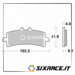 901DS-6833 - SBS Front Right-Left Brake Pads for Bimota BB3 14/15 901DS Racing Competition Dual Sinter -