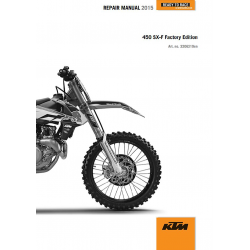 Manuale Officina 2015 KTM 450 SX-F FACTORY EDITION  KTM