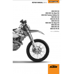 Workshop Manual 2015 KTM 450 - 500 EXC Six Days XC-W  KTM