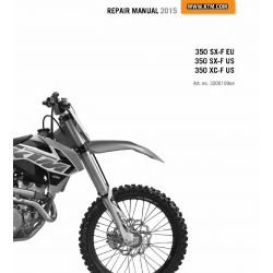 Workshop Manual 2015 KTM 350 SX-F XC-F  KTM