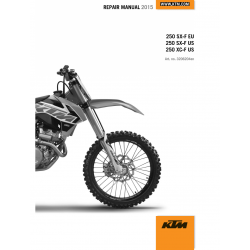 Workshop Manual 2015 KTM SX-F XC-F  KTM