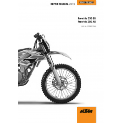 Workshop Manual 2015 KTM Freeride 350  KTM
