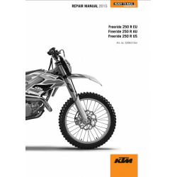 Workshop Manual 2015 KTM Freeride 250R  KTM