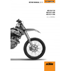 Workshop Manual 2015 KTM 450 SXF XCF  KTM