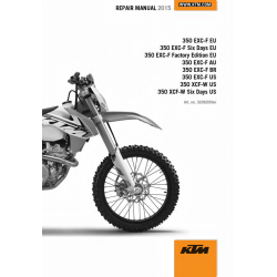 Workshop Manual 2015 KTM 350 EXC-F XCF-W  KTM