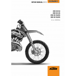 Workshop Manual 2015 KTM 250-300 SX XC  KTM