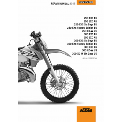Workshop Manual 2015 KTM 250-300 EXC XC-W  KTM