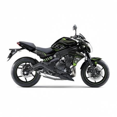 Kit Grafiche Nero-Bianco Kawasaki Er6 N 650 13/16