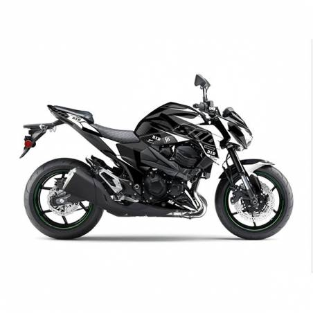 Kit Grafiche Nero-Bianco Kawasaki Z E Abs Dds 800 13/16