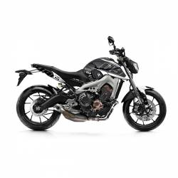 501016 Kit Grafiche Nero-Bianco Yamaha Mt09 / Mt09 Abs 850 14/18  UP DESIGN