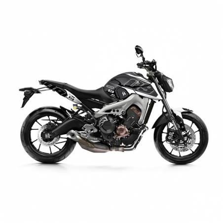 Kit Grafiche Nero-Bianco Yamaha Mt09 / Mt09 Abs 850 14/18