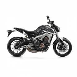 501016 Kit Grafiche Nero-Bianco Yamaha Mt09 Sp 850 18/19  UP DESIGN
