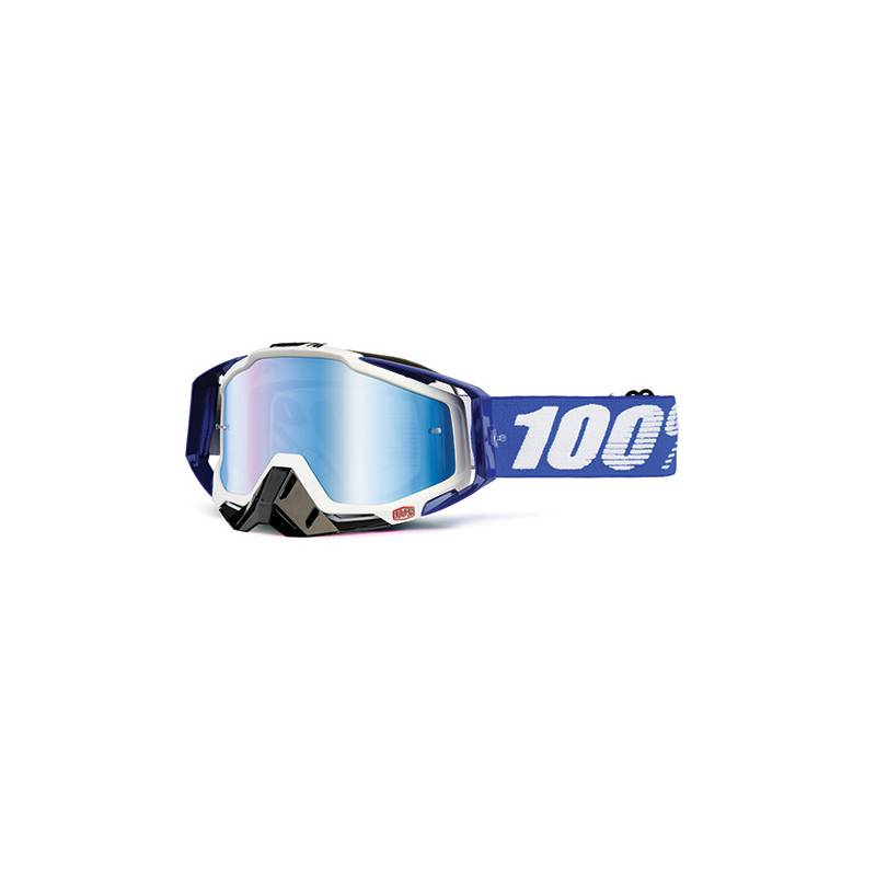 MASCHERA 100% RACECRAFT COBALT BLUE - LENTE A SPECCHIO BLU