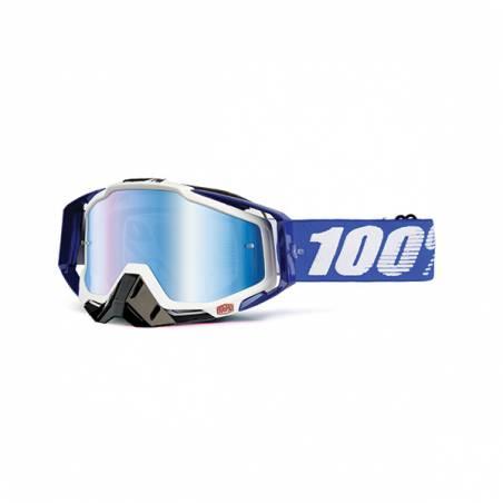 461030 MASCHERA 100% RACECRAFT COBALT BLUE - LENTE A SPECCHIO BLU 817779013168 100%