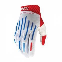 463055L GUANTI 100% RIDEFIT RED/WHITE/BLUE (L)  100%
